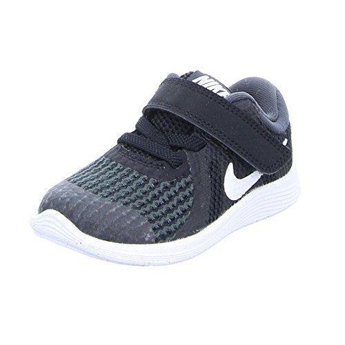 Nike Unisex-Kinder Kleinkinder Sneaker Revolution 4, Schwarz (Black/White-Anthr. 006), 23.5 EU (Nike Kleinkinder Mädchen Schuhe)