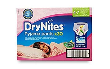 Huggies DryNites Culottes de nuit pour filles (4-7ans) 30culottes