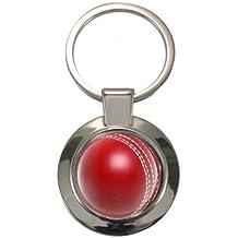 Cricket Ball Design geschoben Circular Schlüsselanhänger