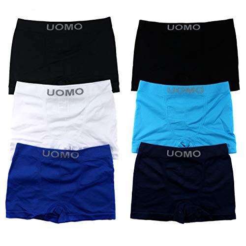 6er Pack Jungen Mikrofaser Boxershorts Kinder Unterhosen Kids Unterwäsche Größe 104-164 A.TM00. (152-164 (12-14 Jahre), TM0067 Uni) (Jungen Unterwäsche Größe 6)