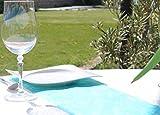 AmaCasa Vlies Tischläufer Türkis 23cm/25 Meter Flower Vlies Tischband Hochzeit Kommunion - 5