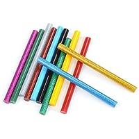 ATPWONZ 60 pcs Barras de cola de alta temperatura multiusos 7 x 100 mm (Multicolor)