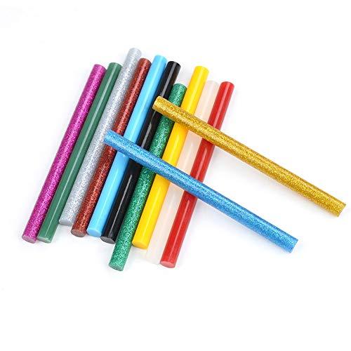 ATPWONZ 60 stück farbige Klebesticks Heißkleber Klebestifte in 12 verschiede Farben 7mm x 100mm Geeignet für gängige Heißklebepistolen