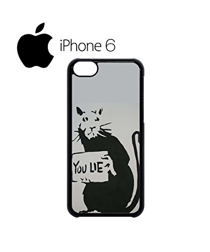Banksy Mouse You Lie Funny Cool Meaningful Mobile Phone Case Cover iPhone 5c White Noir