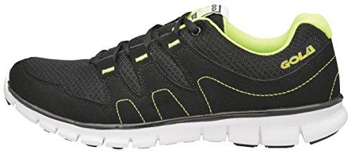 Gola Active Termas de Running pour homme Pointure chaussures de sport léger et Flexible - Black Lime