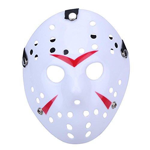 enmaske, Halloween, Mascara, Tanz, Gathering, Jason, Horror-Maske rot/weiß ()