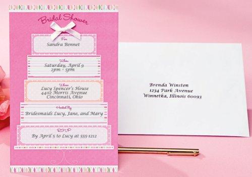 (Wilton Einladung Kit Macht 12-Bridal Dusche/Pink und Weiß Kuchen, Andere, Mehrfarbig)