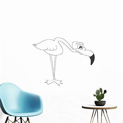 wandaufkleber 3d Wandaufkleber Schlafzimmer Vogel Flamingo Bent Decals für Wohnzimmer Schlafzimmer