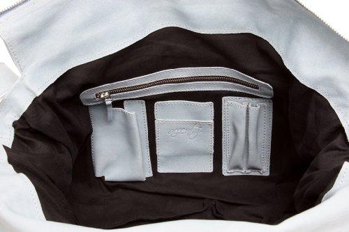Accenti Vintage - Leder Schultertasche 300008 Blau