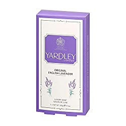 YARDLEY LONDON ENGLISH LEVENDER LUXURY SOAP SAVON DE LUXE - Combo Pack of 3 Soaps ( 3x100 gm)