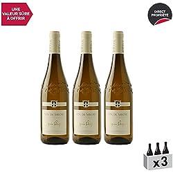 Vin de Savoie Chignin Bergeron Blanc 2018 - Philippe et Sylvain Ravier - Vin AOC Blanc de Savoie - Bugey - Cépage Roussanne - Lot de 3x75cl