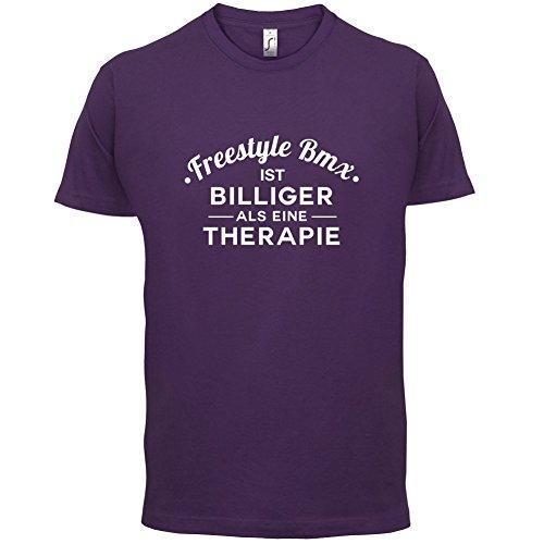 Freestylebmx ist billiger als eine Therapie - Herren T-Shirt - 13 Farben Lila