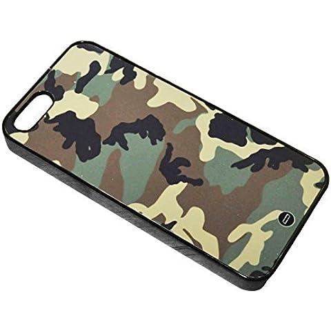 3 ANNI DI GARANZIA - MIGLIORE QUALITÀ - Case Cover Custodia per iPhone 5 & 5S - l'imbutitura - Verde - Nero - Marrone - Camo - Commando - COD GIS Carabinieri Navy Seals Army Air - Call of Duty - SAS - MI6 - Navy - marels - Esercito - Camoubandierae - Stampa 3D - antigraffio - Matte