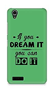 Amez If you can Dream it You can do it Back Cover For Lenovo A3900