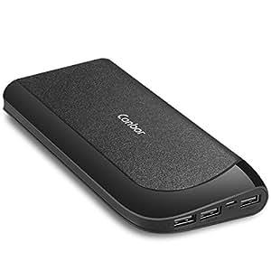 Canbor Batterie Externe, 22000mAh Chargeur Portable Batterie de Secours Nomade 3 Sorties USB Intelligentes Power Bank pour iPhone iPad Samsung Galaxy et d'autres Smartphones Tablettes
