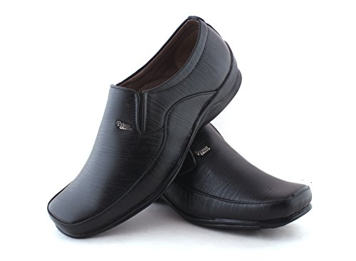 Alestino Men's Black Leather Formal Shoes