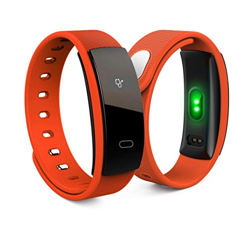 TPulling Smart Sport Bluetooth Smart Watch Armband Fitness Pulsmesser für Android IOS (Orange)
