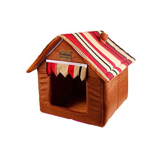 YNZYOG Nid De Petit Chien XS XL Amovible Et Lavable Lit d'animal d'hiver Maison De Compagnie Nid De Coton Tente Intérieure pour Animaux Nid De Chat (Couleur : 1, Taille : L)