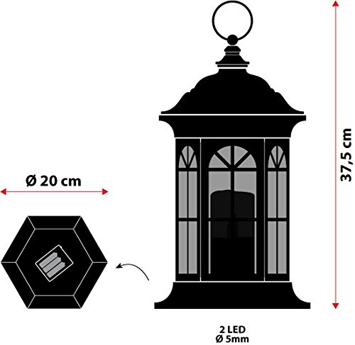 Farol hexagonal Bco de LED