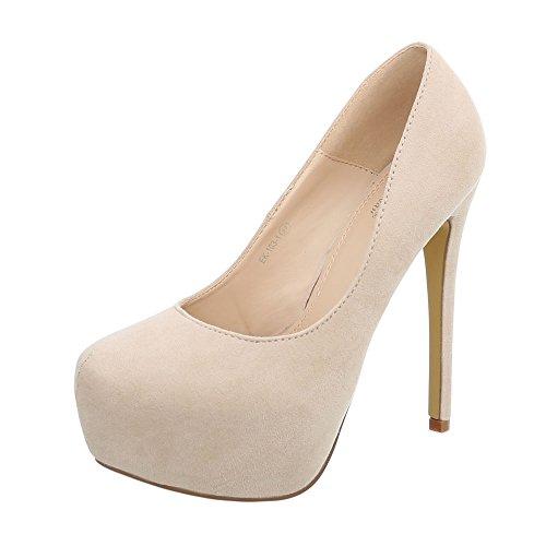 Slippers femme Design Ital 1 Beige Hi Top EK 103 14ztwqxtH