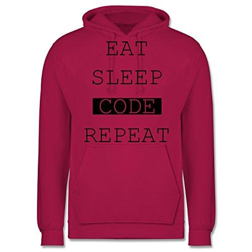 Programmierer - Eat-Sleep-Code-Repeat - Männer Premium Kapuzenpullover / Hoodie Fuchsia