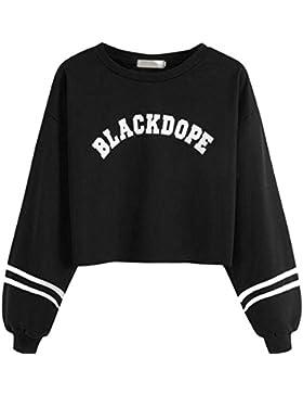 OverDose Donna Ragazza Felpe Pullover Camicetta Maglia,Sono Disponibili 18 Colori e Stili,XS-XXL
