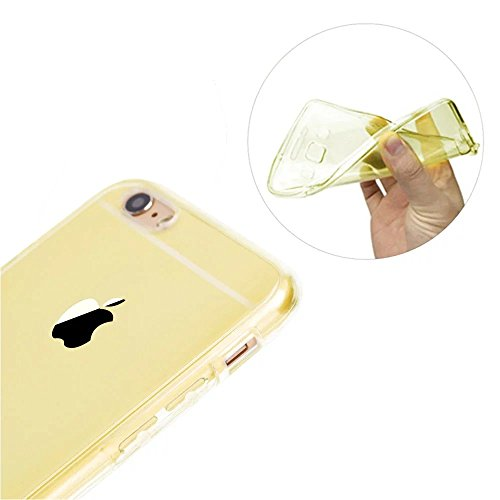 iPhone 6S Plus Hülle, iPhone 6 Plus Hülle, MOMDAD Beidseitiger 360°Full Body Schutzhülle für iPhone 6S Plus / 6 Plus Double Case Cover Telefonkasten Touchscreen TPU Silikon Transparent Front Back Schu QB-Gold