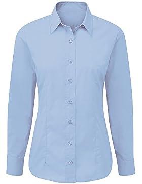 Alexandra stc-nf90pb-08cuidado Camiseta de manga larga para mujer, plain, 65% poliéster/35% algodón, tamaño 8...