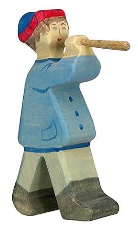 Holztiger Hirte mit Flöte 2, 80304