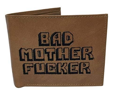 Bad Mother Fucker Geldbörse braun Premium-Nappaleder