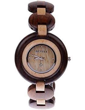 Generic Holzuhr - Holz - Armbanduhr - Damenuhr - Herrenuhr - Weihnachtsgeschenk