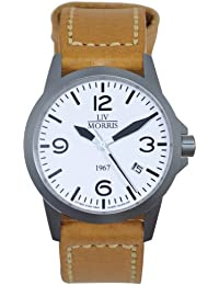 LIV MORRIS LIV MORRIS 1967 VALBERT No. 2 LEDER 0732066353799 - Reloj para hombres, correa de cuero color marrón