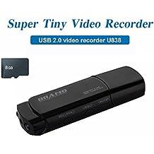 Mengshen 8GB Full HD 1080P USB Stick Covert Spycam Mini DVR caméra cachée Surviellant enregistreur vidéo avec détection de mouvement de soutien IR Night Vision MS-U838C