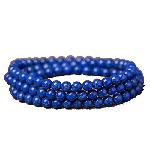 WANZIJING Mala Perlen Armband, Natürlich Lapislazuli Wraps Halskette Kristall Heilung Charme Armband für Unisex,6mm - Baut Immunsystem