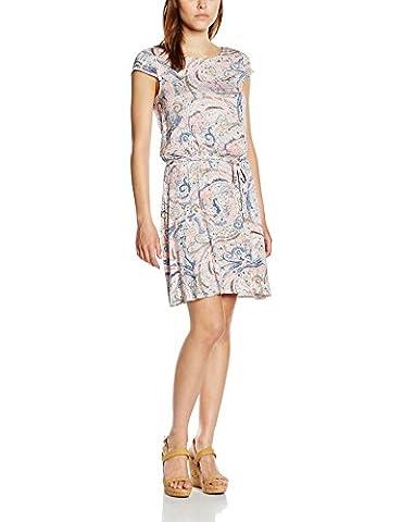 ESPRIT Women's 056ee1e026 - Paislimey-print Knee-Length Tea Short Sleeve Dress, Pink (Pastel Pink), 16 (Manufacturer Size: XL)
