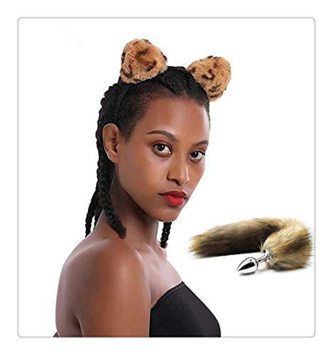n Leopard Nettes Ohr Stirnband und Fuchsschwanz B-¨¹tt an-l Pl-¨´g T-?-ys Frauen Cosplay Kost¨¹m Bevorzugungen Zubeh?r ()