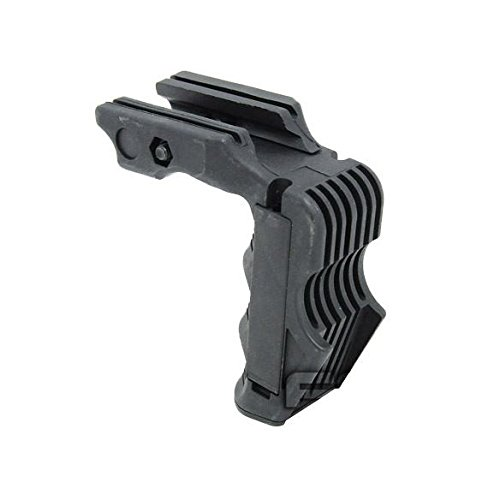 AIRSOFT RAIL MOUNTED VERTICAL GRIP FOR MAGWELL PRESSURE PAD READY BLACK SWAT