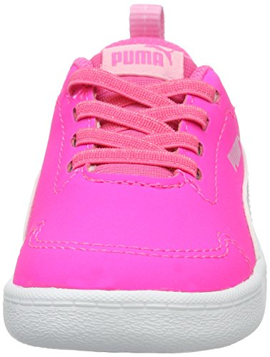 Puma Courtflex Inf, Sneakers Basses Mixte Enfant Rose (Knockout Pink-puma White 04)