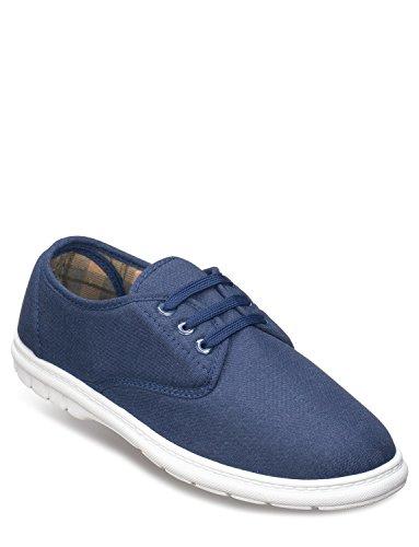 Dentelle De Hommes Chaussures De Toile Bleu Marine