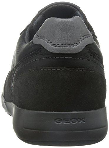 Geox U Jepson E Herren Low-Top Schwarz (BLACK/MUDC9355)