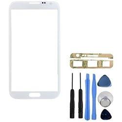 BisLinks Blanc Neuf Objectif avant d'écran en verre pour Samsung Galaxy Note 2N7100+ Outils