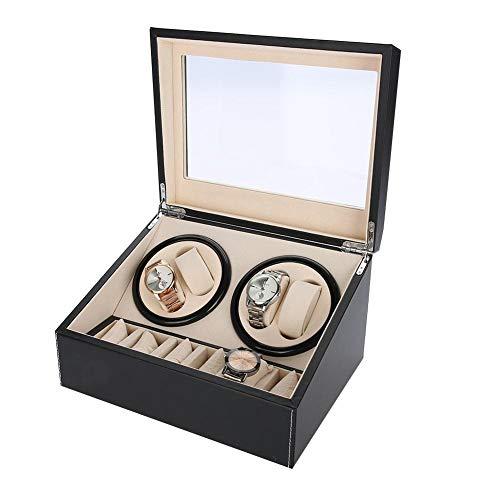 6 Griglie Custodia porta orologi, orologio avvolgitore avvolgitore orologi automatici Motore silenzioso rotazione multipla(01)