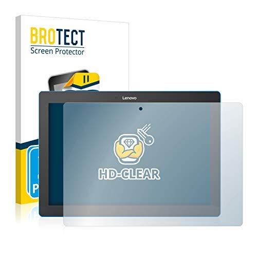 BROTECT Schutzfolie kompatibel mit Lenovo Tab 10 TB-X103F [2er Pack] - kristall-klare Bildschirmschutz-Folie, Anti-Fingerprint