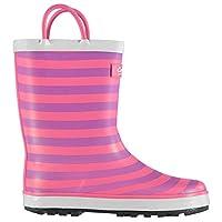 Cotswold Captain Wellington Boots Infants Girls Pink Stripe Wellies Gum Boots