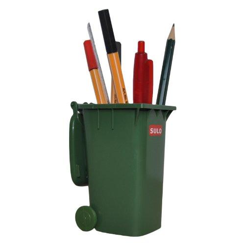 SULO Mini Müllbehälter Mini Mülltonne 120L grün ***Tischmülleimer***Stiftehalter***Mini Müllcontainer***