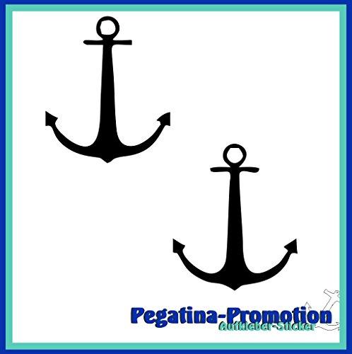2x Anker Typ2 ca. 30x30 cm Aufkleber aus Hochleistungsfolie - viele Farben zur Auswahl - Angler Angelboot Sticker Boot Boote Beschriftung Bug Heck Fische Angeln Schlauchboot Nautic See Fischer Fischen