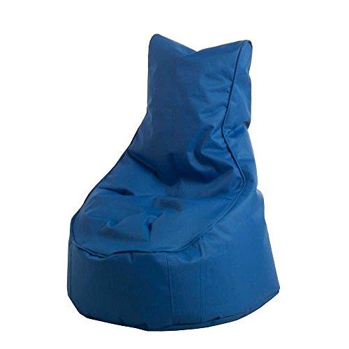 Pharao24 Kinderzimmer Sitzsack in Blau Rückenlehne (Rückenlehne Sitzsack Hohe)