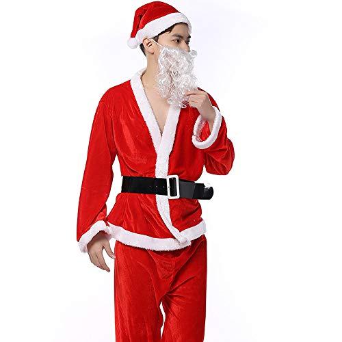 Shisky Weihnachtskostüme, Santa Claus Männer Gold samt Kleidung -