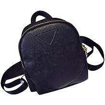 Tongshi Mochila viaje cuero bolso mochila escuela de hombro bolsa de Women