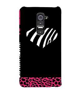 PrintVisa Animal Print Love Design 3D Hard Polycarbonate Designer Back Case Cover for LG G2